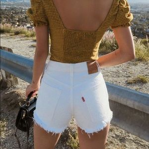 Levi's Vintage High-Waisted White Denim Shorts